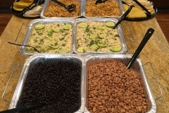 Cilantro lime rice, black and pinto beans